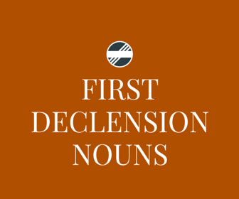 First Declension Nouns